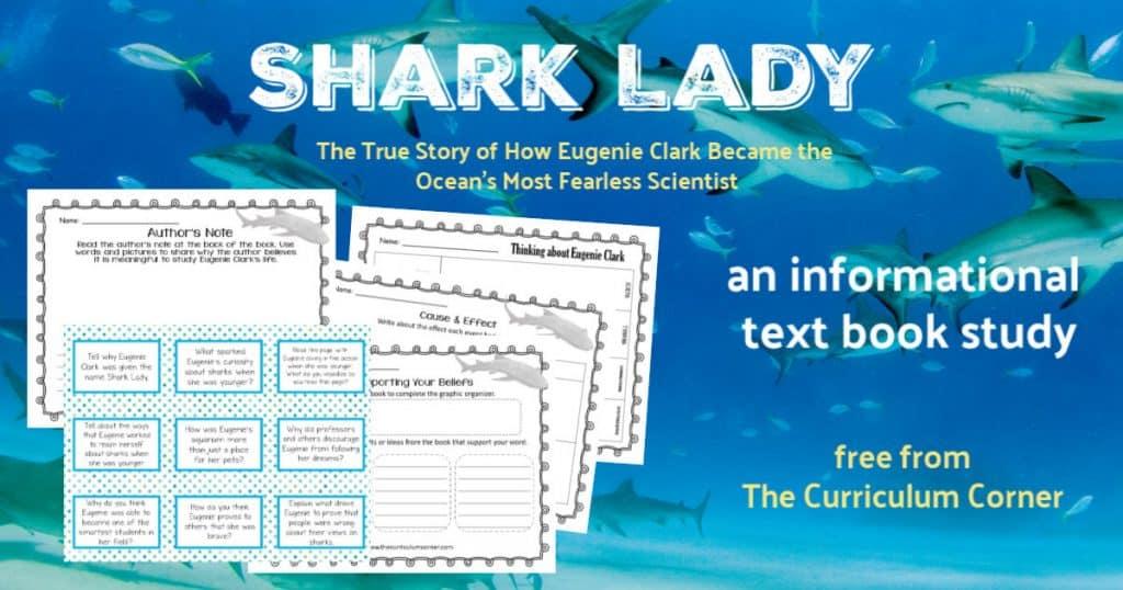 free Shark Lady book study | Eugenie Clark