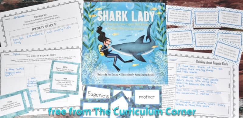 free Shark Lady book study