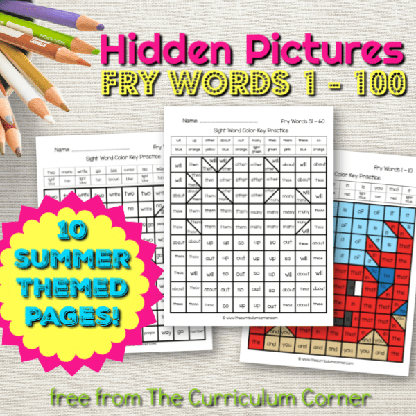 Summer Fry Word Hidden Pictures