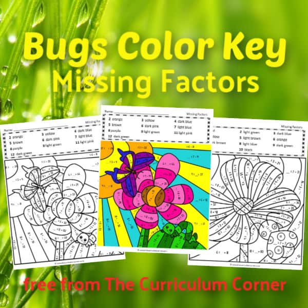 Bugs Color Key Missing Factors