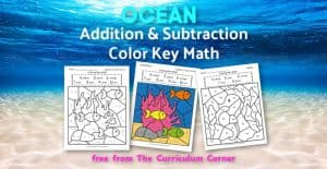 Ocean Addition Color Key Math