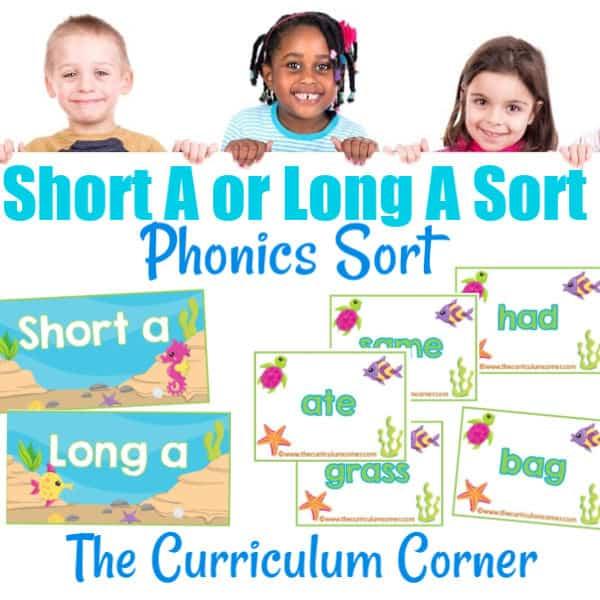 Phonics Sort: Long A & Short A