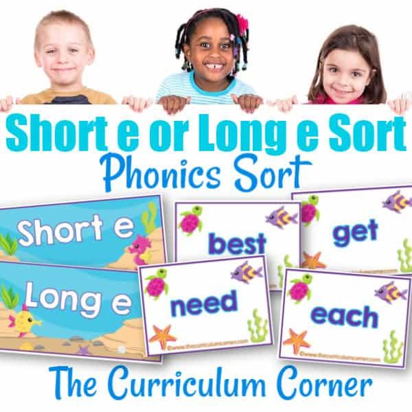 Phonics Sort: Long E & Short E
