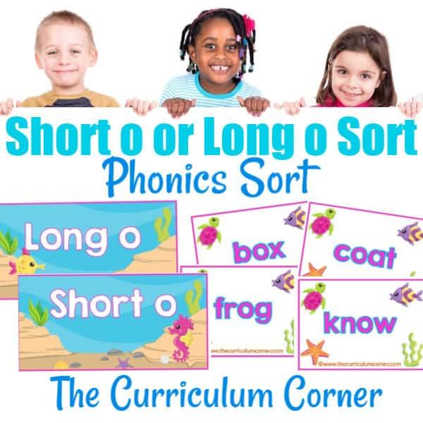 Phonics Sort: Long O & Short O
