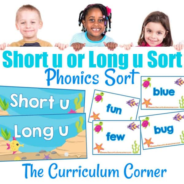 Phonics Sort: Long U & Short U