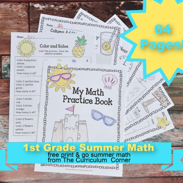1st Grade Summer Math Practice Booklet