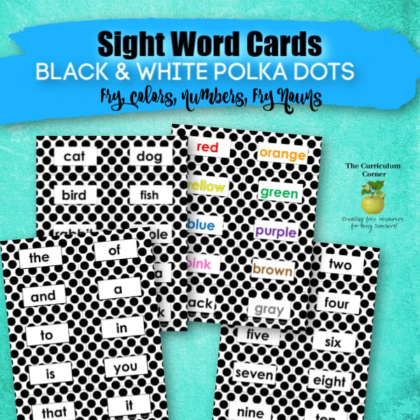 Black Polka Dots: Sight Words