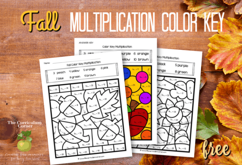 fall color key multiplication