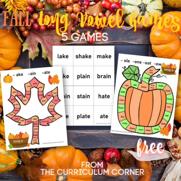 Fall Long Vowel Games