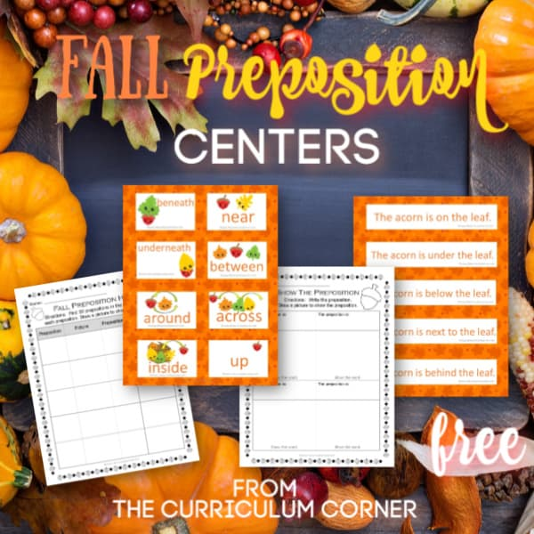 Fall Preposition Practice