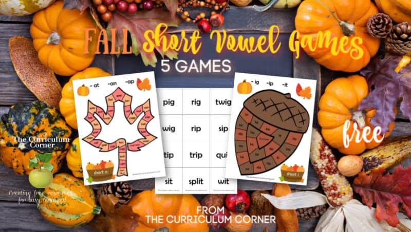Fall Short Vowel Games