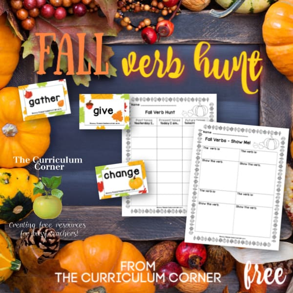 Fall Verb Hunt