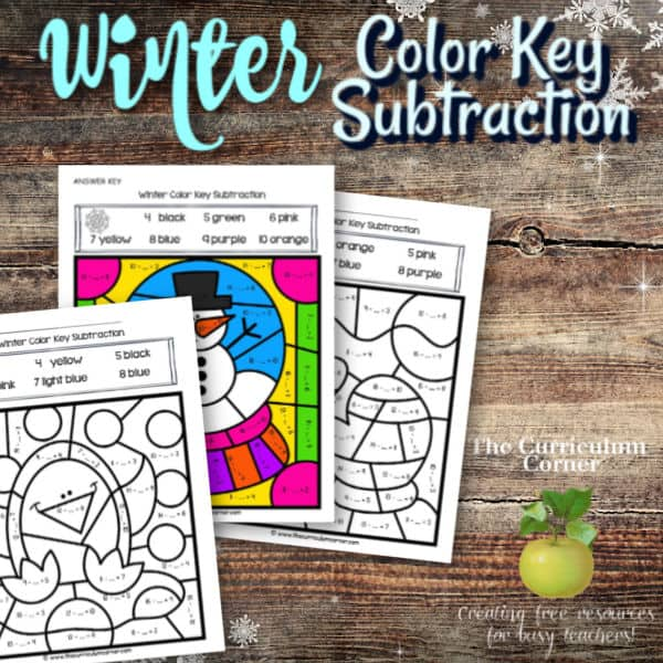 Winter Color Key Subtraction