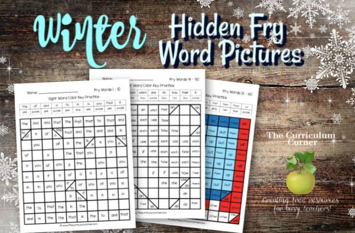 Winter Fry Word Hidden Pictures