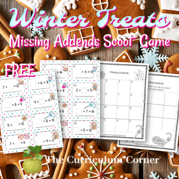 Winter Missing Addends Cards