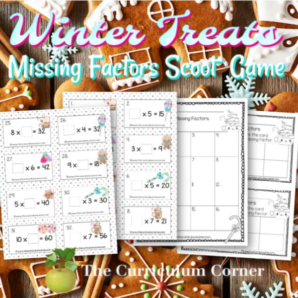 Winter Missing Factors Cards