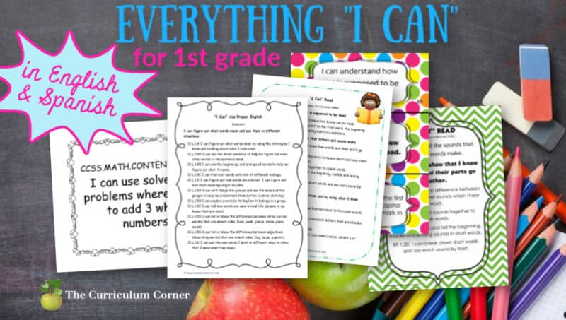1st Grade I Cans