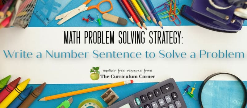 Write a number sentence to solve a problem