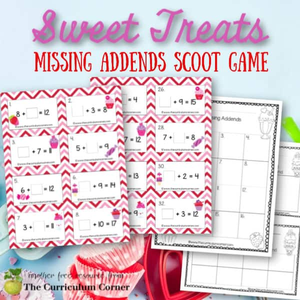 Sweet Treats Missing Addends