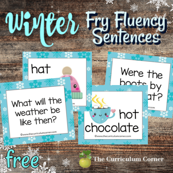 Winter Fry Fluency Sentences
