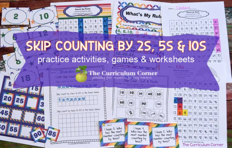 skip counting activities