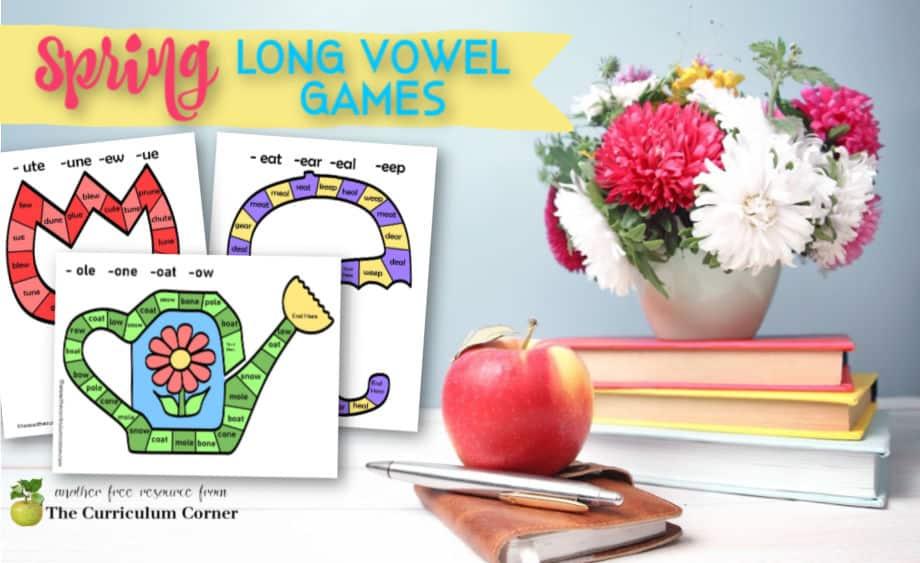 spring long vowel board games
