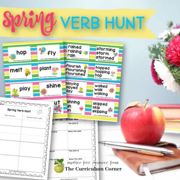 Spring Verb Hunt