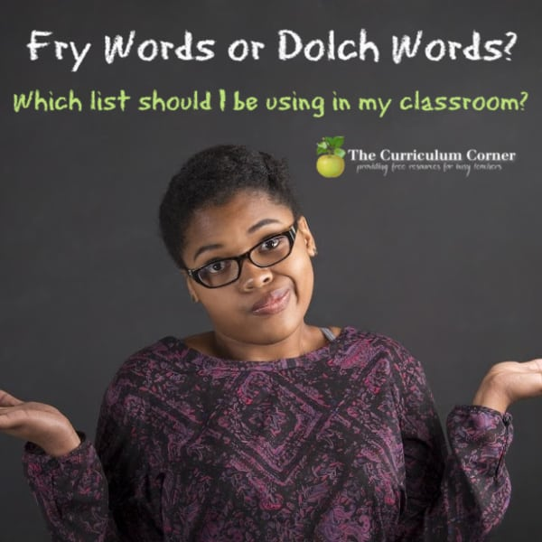 Fry Words or Dolch Words?
