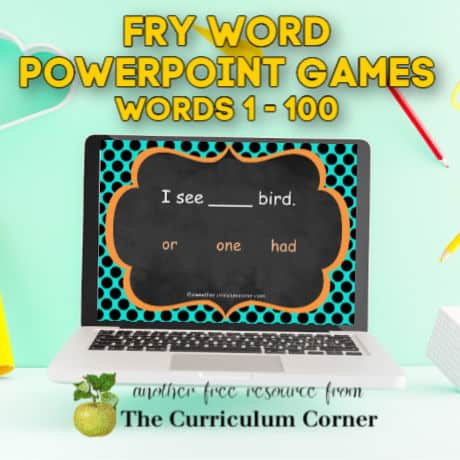 Fry PowerPoint Games (1st 100 Words)