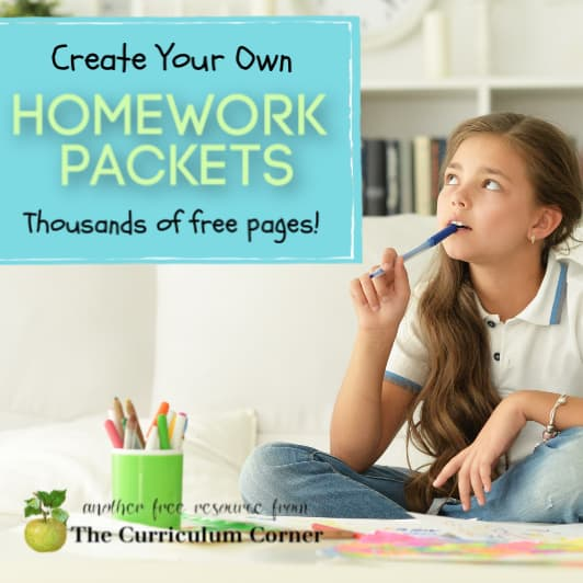 Packets for Home Learning (Homework Packets)