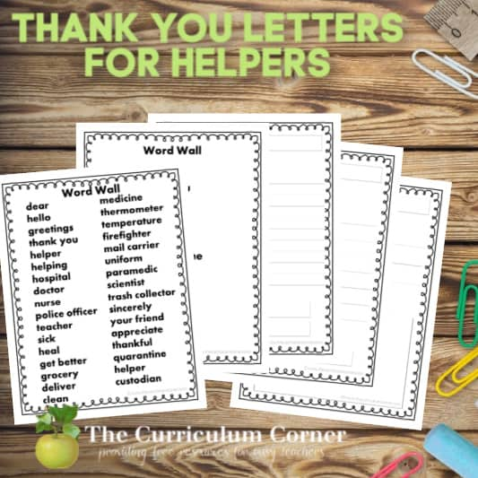 Thank You Letters for Helpers