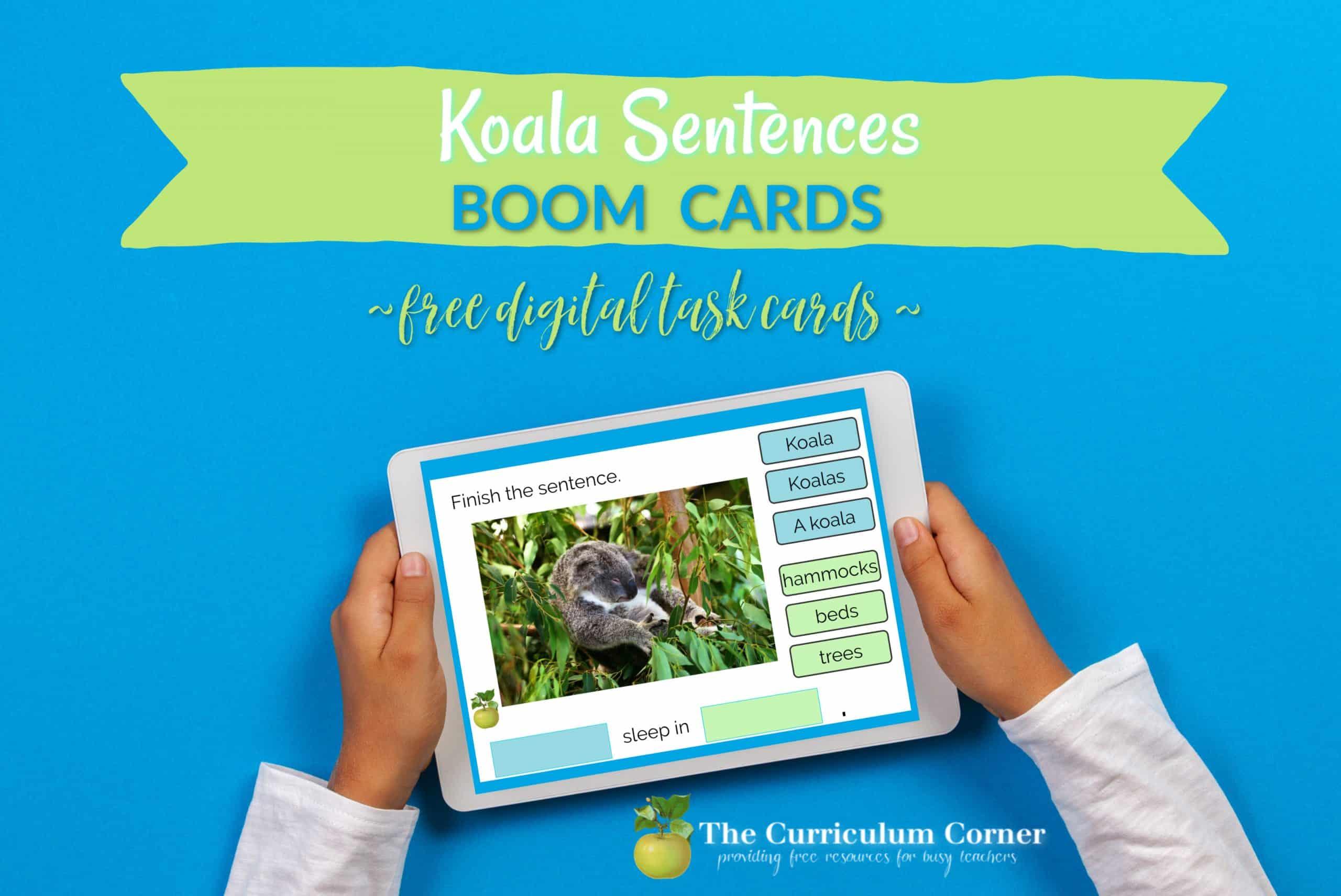 Boom Cards: Koala Sentences