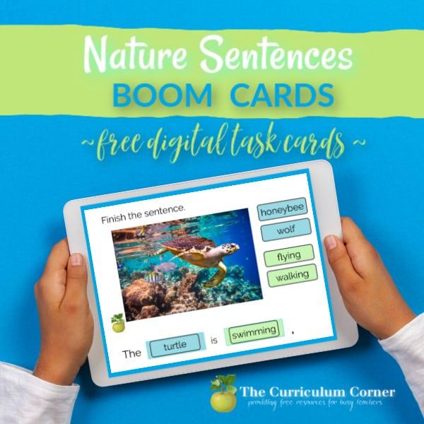 Boom Cards: Nature Sentences