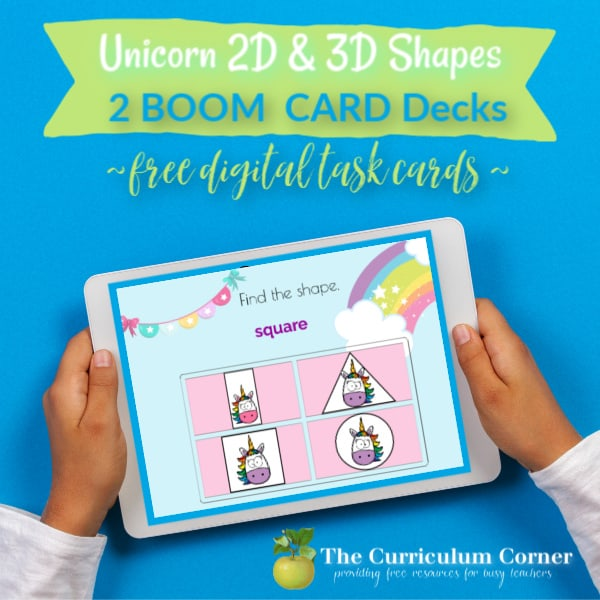 Boom Cards: Unicorn Shapes