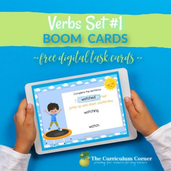 Boom Cards: Verbs #1