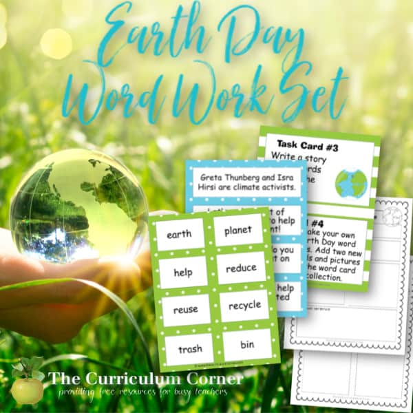Earth Day Word Work Set