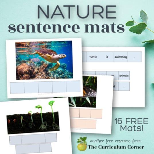 Nature Sentence Mats