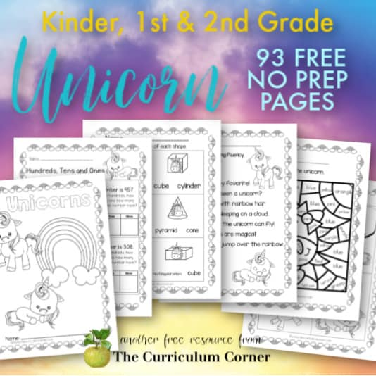 Unicorn No Prep Pages