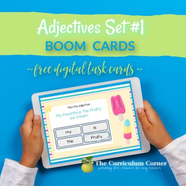 Boom Cards: Adjectives Set #1