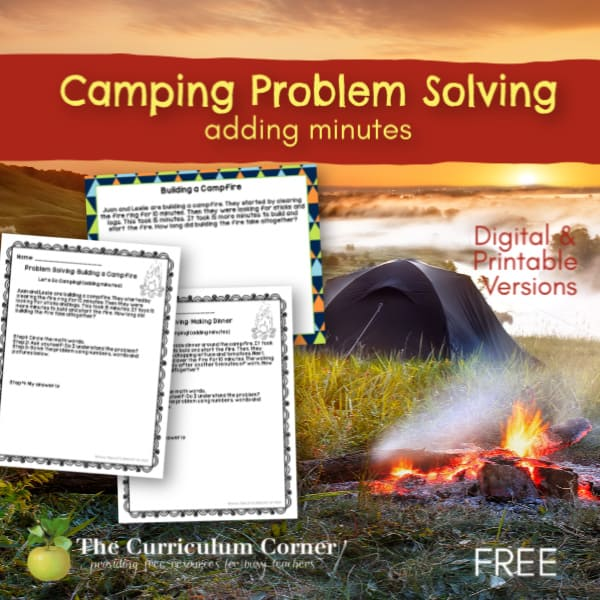 Camping: Adding Minutes Problem Solving