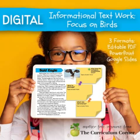 Digital Informational Text: Birds