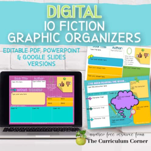 Fiction: Digital Graphic Organizers