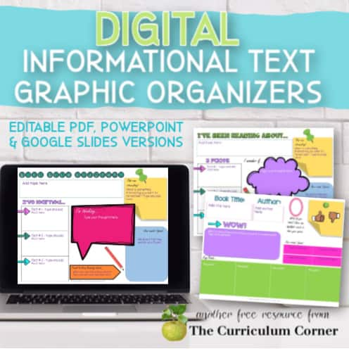 Informational Text: Digital Graphic Organizers