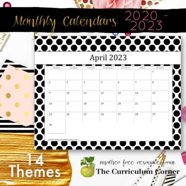Purdue Academic Calendar 2022 2023.Free Teacher Calendar Pages The Curriculum Corner 123