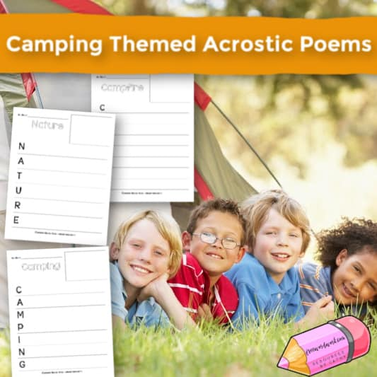 Camping Themed Acrostic Poems