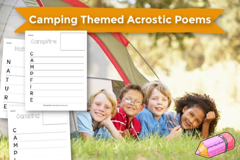 Free Camping Themed Acrostic Poems Templates