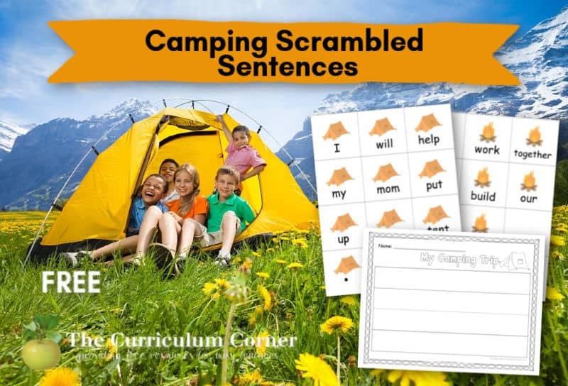 Camping Scrambled Sentences