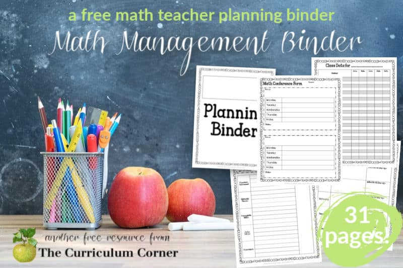 This free, editable math management binder is designed to help with your math planning and organization.