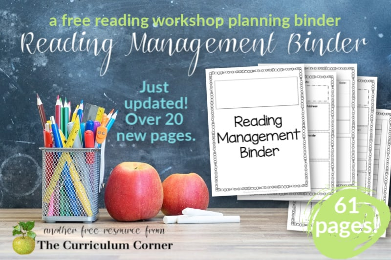 Our updated, editable reading management binder (guided reading binder) is just what you need to help you plan your reading workshop.