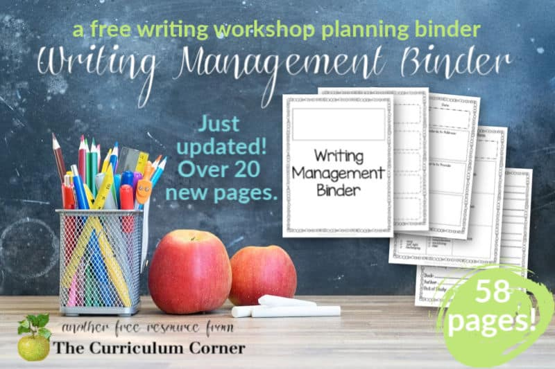 Use this editable writing management binder to plan and organize your writing workshop.